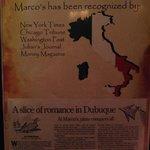 Marco's Italian Restaurant, Dubuque, IA