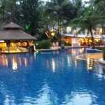 The main pool and poolside bar