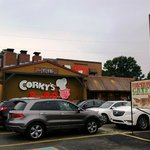 Exterior of Memphis' legendary BBQ joint Corky's
