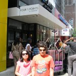 Kids outside Four Points By Sheraton Times Square