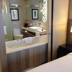 see-through bathroom with optional curtain