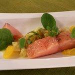 Carpaccio de saumon à l'artichaut
