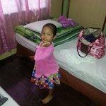 Aleesya posing in our room...room no 7