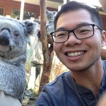 My selfie with one of the Koalas