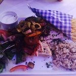 Various souvlakis as part of the meat meze for 2 deal- well worth it!