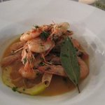 prawns with garlic, white wine and olive oil