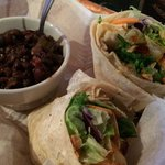 Asian Wrap with Rice and Beans