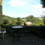 The secluded terrace overlooking the view
