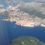 Flying into Dubrovnik