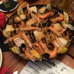 Authentic Spanish fresh Seafood Paella