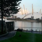 View from the restaurant over the river to the O2