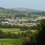 Crickhowell from hotel room window
