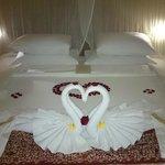 Łóżko przygotowane na nasz przyjazd