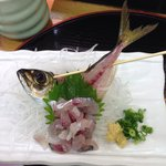 This makreel they catch iT from THE aquarium and make iT for you, great, iT was moving just a li