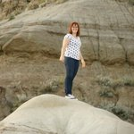 Daughter on rocks