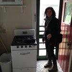 Kitchenette exit door