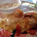 Shrimp Omelet another must have, I love this place.. Great owner and staff.. This is a must when