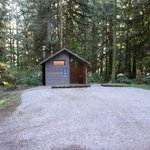 Campground pit rest room