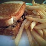 Love the bbq sandwich on Texas toast!