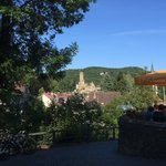 From the Beergarden a fabulous view over the Eppstein Castle!
