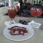 Drinks and Caramelized Bacon!