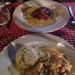 Poulet curry/riz basmati Confit de canard et pomme de terre  Tellement bon !