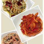 assorted pasta dish's