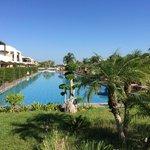 Blick auf den riesigen Pool