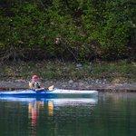 Kayaking on the pond