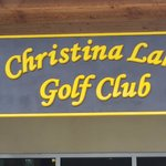 out door sign coming up to the clubhouse, Christina Lake Golf Club  |  Box 258, Christina Lake,