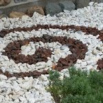 Love this decorative rock by the entrance in their gardens, Christina Lake Golf Club  |  Box 258