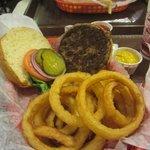 """Signature"" buffalo burger."
