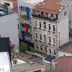 View from Galata Tower of hostel
