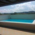 piscina privata sull'attico