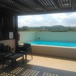 Panorama blue executive suite con private pool on the roof