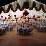 the marquee at The Inn at Hawnby