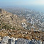 View of Kamari Village from Ancient Thira