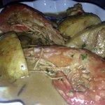 Shrimp and pear