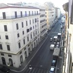 view of street from the hotel window