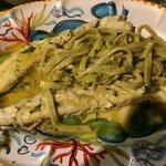 Sauro fish with homemade pasta in lemon sauce. Fantastic
