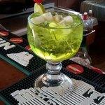 Melon liquor sangria
