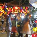 Night Market outside Moon Homestay