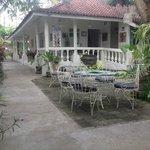 Varandah around cafe and guest area
