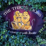 The Entrance Sign--the lions are facing you