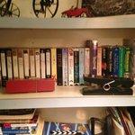video cassettes in bedroom