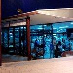 Night time - outside view Inn-Dulgence Cafe