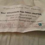 Note Found on Windshield
