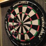 Dart Board in the Bar