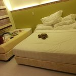 the bed!