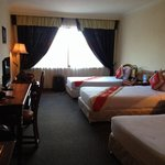 Very nice Deluxe Twin room for 3 people. Pool view. Room 306. Perfect sunrise view